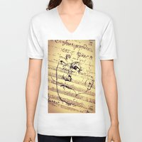 beethoven V-neck T-shirts featuring Beethoven Music by Richard Harper