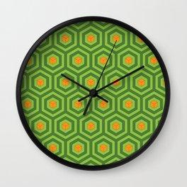 Green Geometric Cube Wall Clock