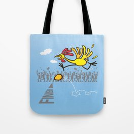 Chicken and egg, scrambled forever in an eternal tie? Tote Bag