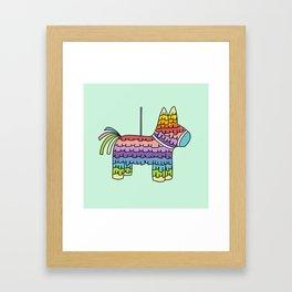 Pinata Party | Mint Framed Art Print