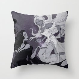 Nyx and Selene Throw Pillow