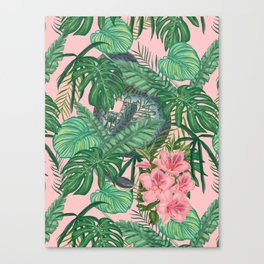 Serpents and Flowers Canvas Print