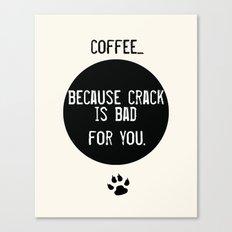 Coffee Art Print  and Crack Canvas Print
