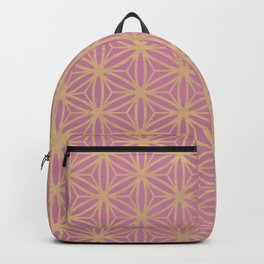 Pink Geometric Pattern Backpack