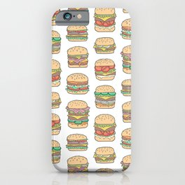 Hamburgers Junk Food Fast food on White iPhone Case