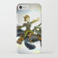 hiccup iPhone & iPod Cases featuring Hiccup & Toothless Flight by Chris Thompson, ThompsonArts.com