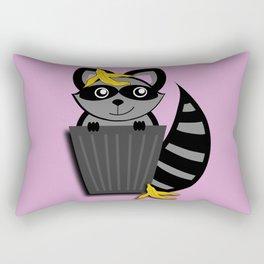 Trash Panda Raccoon Rectangular Pillow