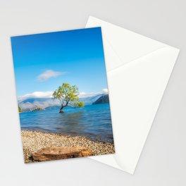 Clear blue morning at Lake Wanaka, New Zealand Stationery Cards