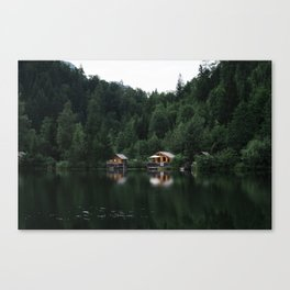 Cabins In The Compound Canvas Print