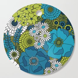 Vintage Florals Chrysanthemum Cutting Board