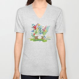#bookstagram In Bloom Unisex V-Neck