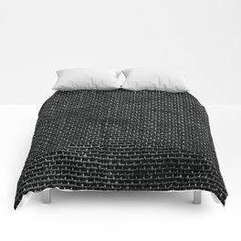 Black Burlap texture  Comforters