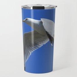 Ring-Billed Gull in Flight Travel Mug