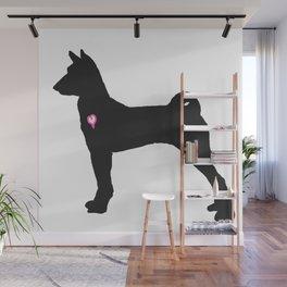My Basenji Heart Belongs To You Wall Mural