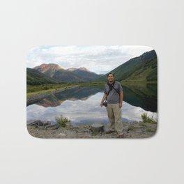 Photographer on Crystal Lake Bath Mat