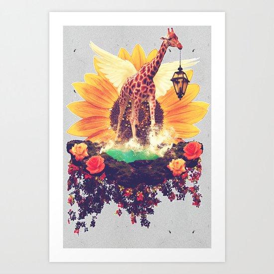 Girafflower. Art Print