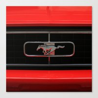 mustang Canvas Prints featuring Mustang by Barbo's Art