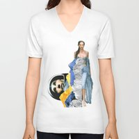 ufo V-neck T-shirts featuring UFO by Mowil