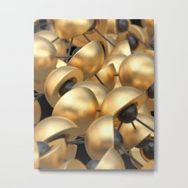 Golden Cups Metal Print