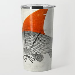 Goldfish with a Shark Fin Travel Mug