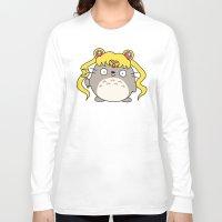 ghibli Long Sleeve T-shirts featuring Sailor Ghibli by KiraKiraDoodles