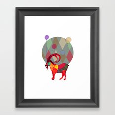 peaceful and happy Framed Art Print