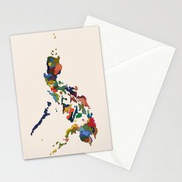 +63 / Map of the Philippines Stationery Cards