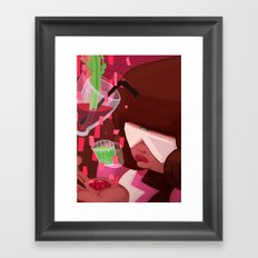 Garnet's shots Framed Art Print
