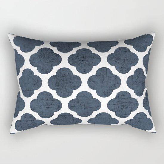 navy clover Rectangular Pillow