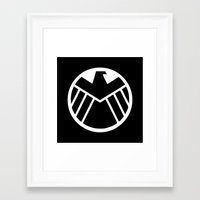 shield Framed Art Prints featuring SHIELD by Merioris