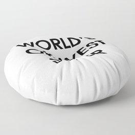 Funny Worlds Okayest Sister Floor Pillow