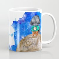 the little prince Mugs featuring Little Prince Vader by gunberk