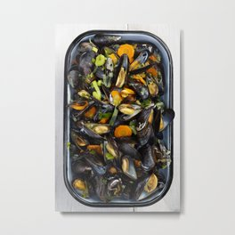 Cooked mussels Metal Print