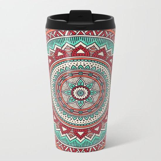 Hippie mandala 1 Metal Travel Mug
