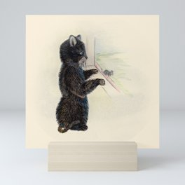 The little kitten and the little mouse Mini Art Print