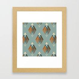 Les 7 sommets Framed Art Print