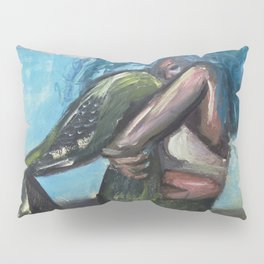 Sad Mermaid Pillow Sham