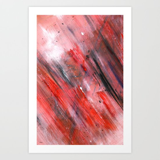 Acryl-Abstrakt 44 Art Print