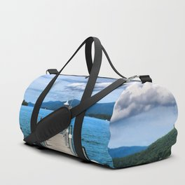 Stepping to the Sea Duffle Bag