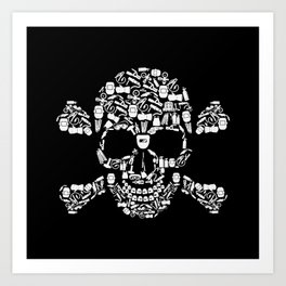 Skull Welder Equipment Art Print