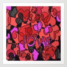 LOVE love LoVe lOvE Art Print