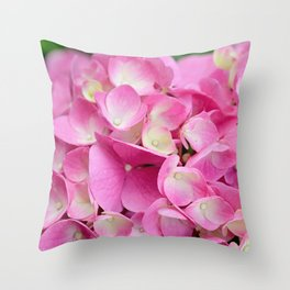 Buds of All Stages Throw Pillow