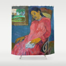 Faaturuma (Melancholic) by Paul Gauguin Shower Curtain