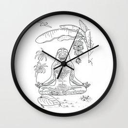 Monkey Yoga Wall Clock