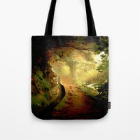 fairytale Tote Bags featuring Fairytale by Nev3r