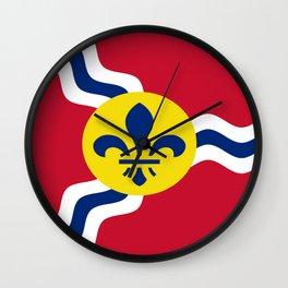 Flag of Saint Louis Wall Clock