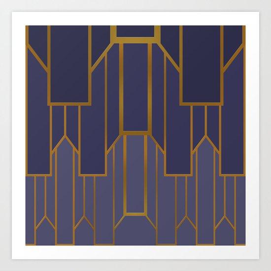 ART DECO G3 (abstract artdeco geometric) Art Print