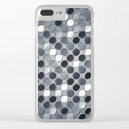 Metallic grid backdrop Clear iPhone Case