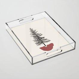 Fir Pine Acrylic Tray