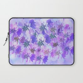 Painterly Glowing Floral Abstract Laptop Sleeve